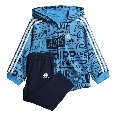 adidas Graphic Full Zip Hoodie Fleece Jogger Bebek Eşofman Takımı
