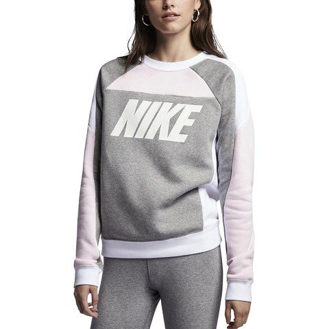 Nike Sportswear Color Block Crew Fleece SS19 Kadın Sweatshirt