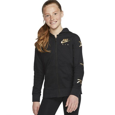 Nike Air Older Kids' (Girls') Full-Zip Fleece Hoodie Kapüşonlu Çocuk Ceket