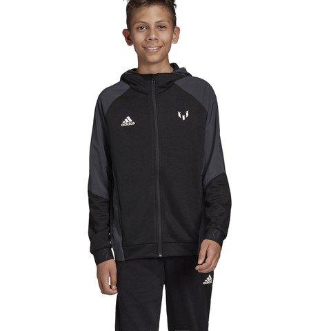 adidas Messi Full-Zip Hoodie Kapüşonlu Çocuk Ceket