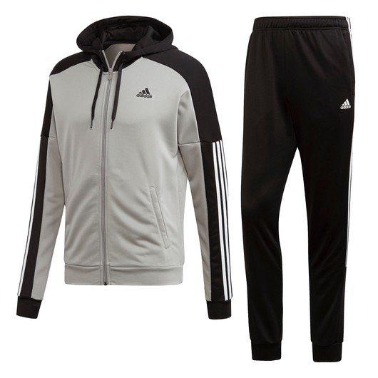adidas Game Time Full Zip Hoodie Track Suit Kapüşonlu Erkek Eşofman Takımı