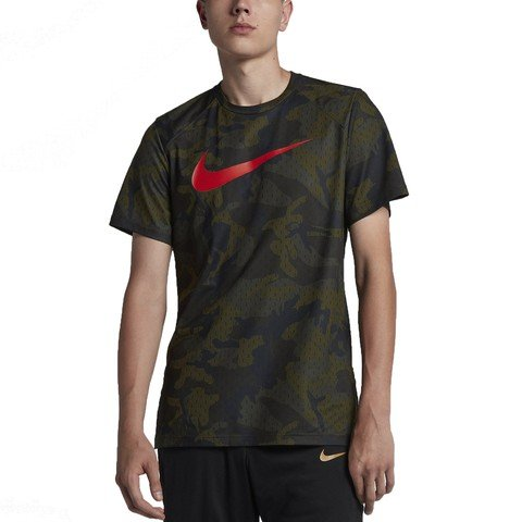 Nike Breathe Dri-Fit Elite Camouflage Short Sleeve Fw18 Erkek Tişört