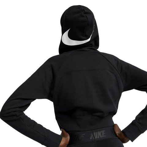 Nike Sportswear Swoosh Cropped French Terry Hoodie SS19 Kapüşonlu Kadın Sweatshirt