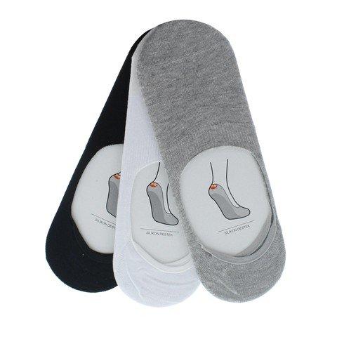 Barçın Slikonlu 3'lü Babet Çorap