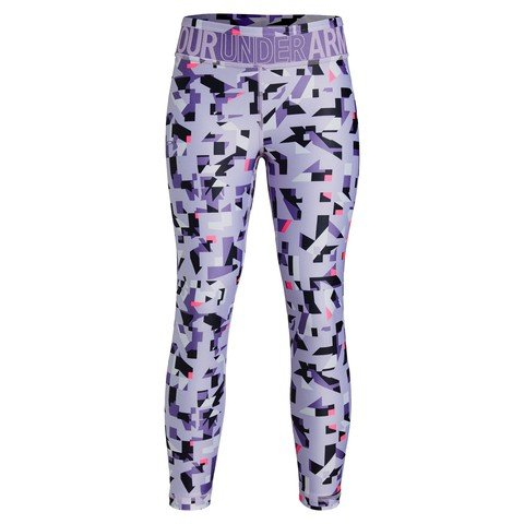 Under Armour Girls' HeatGear® Printed Ankle Kız Crop Çocuk Tayt