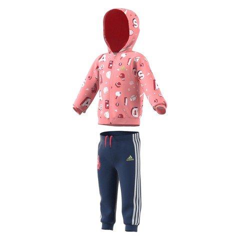 adidas Infant Graphic Full-Zip Hooded Kapüşonlu Bebek Eşofman Takım