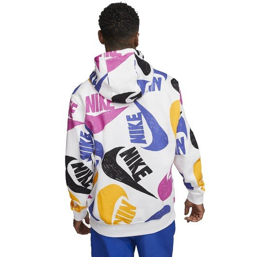 Nike Sportswear Club Pullover All Over Print Hoodie Erkek Sweatshirt