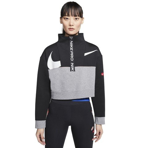 Nike Pro Get Fit Fleece 1/2-Zip Kadın Sweatshirt