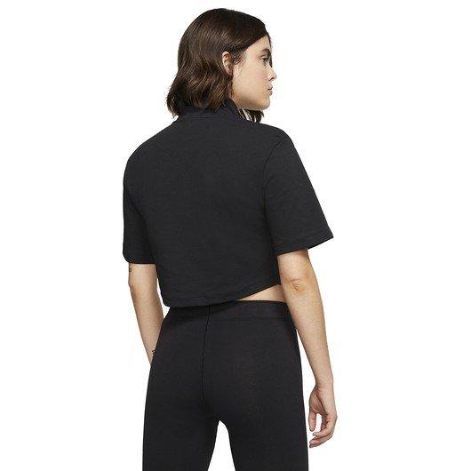 Nike Sportswear Swoosh Short-Sleeve Half-Zip Mock Top Kadın Tişört