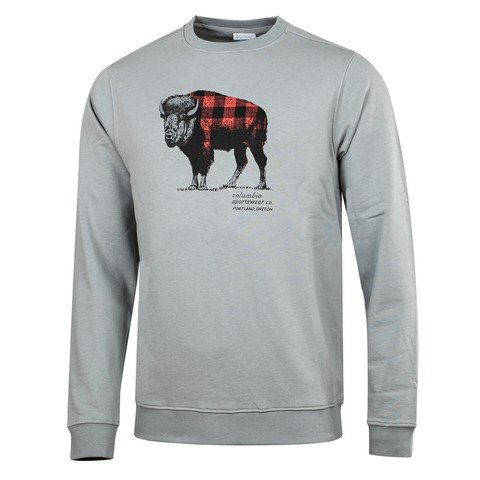 Columbia Check The Buffalo Bugasweat™  Crew Erkek Sweatshirt