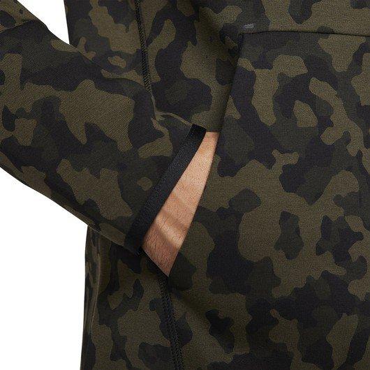 Nike Sportswear Tech Fleece Full-Zip Printed Hoodie Kapüşonlu Erkek Ceket