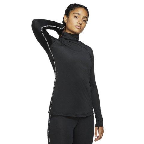 Nike Pro Warm Long-Sleeve Metallic Top Uzun Kollu Kadın Tişört