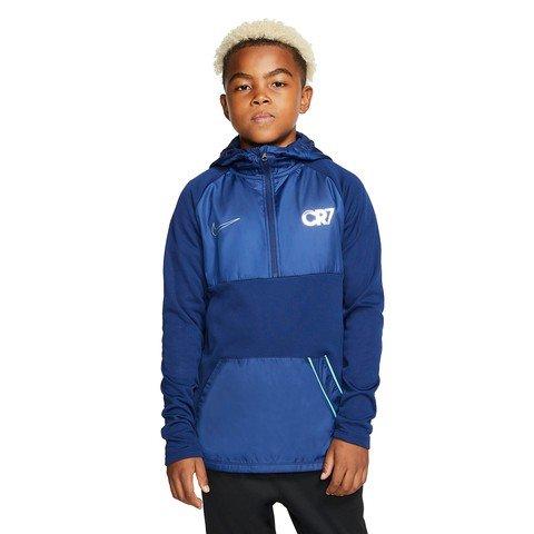 Nike Dri-Fit Repel CR7 Half-Zip Hooded Football Drill Top Kapüşonlu Çocuk Sweatshirt
