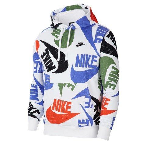 Nike Sportswear Club Pullover All Over Print Hoodie Erkek Sweatshirt