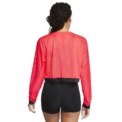 Nike Pro Long Sleeve Mesh Crop Top Kadın Tişört