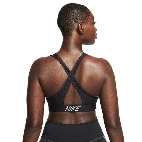 Nike Swoosh Medium-Support Striped Sports Kadın Büstiyer