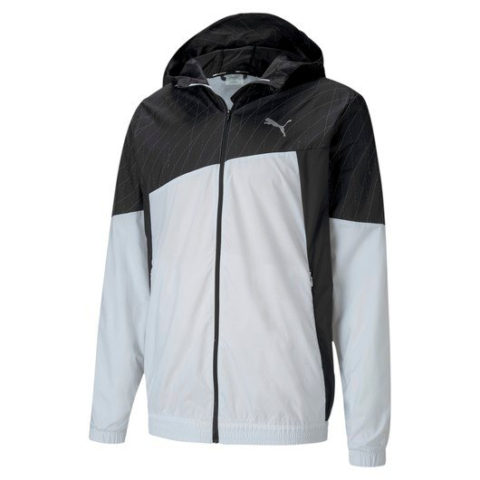 Puma Run Graphic Full-Zip Hooded Erkek Ceket