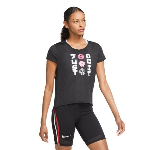 Nike Icon Clash Short Sleeve Running Top Kadın Tişört