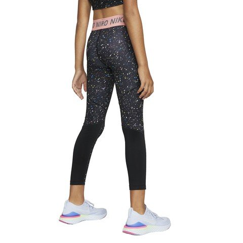 Nike Pro Warm Big Kids' (Girls') Printed Training Çocuk Tayt