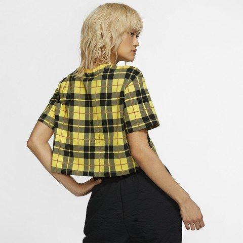 Nike Sportswear NSW Cropped Checked Kadın Tişört