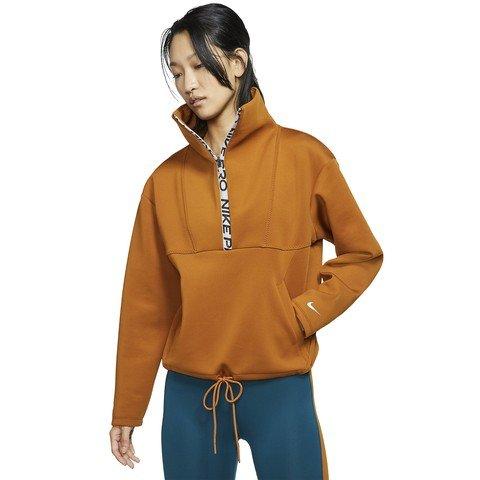 Nike Pro Fleece Half-Zip Cropped Top Kadın Sweatshirt
