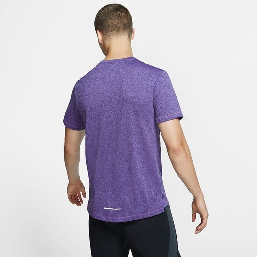 Nike Dri-Fit Miler Short-Sleeve Knit Running Top Erkek Tişört