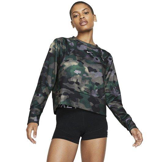 Nike Dri-Fit Fleece Camouflage Training Top Kadın Sweatshirt