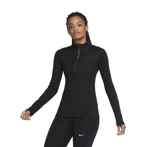 Nike Pro Warm Long-Sleeve 1/2-Zip Top Kadın Tişört