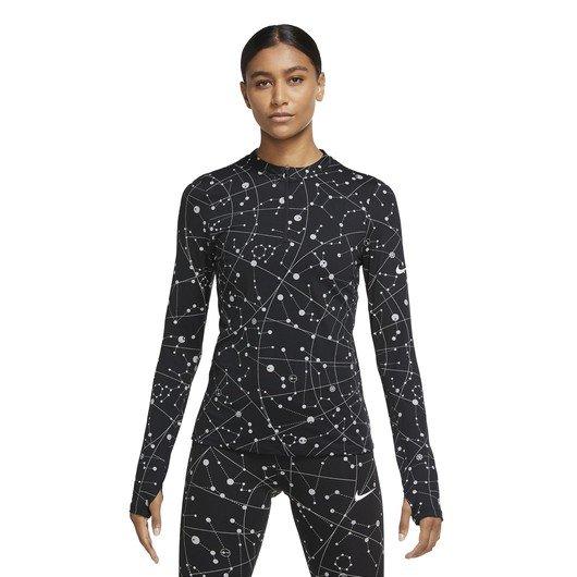 Nike Element Flash Half-Zip Runway Long-Sleeve Top Kadın Tişört