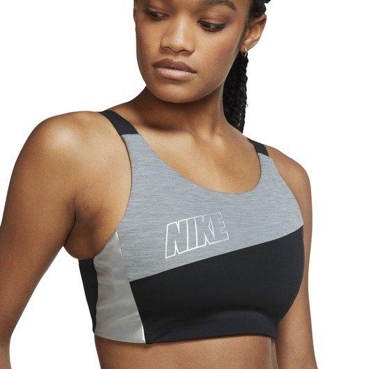 Nike Swoosh Medium-Support Metallic Sports Kadın Büstiyer