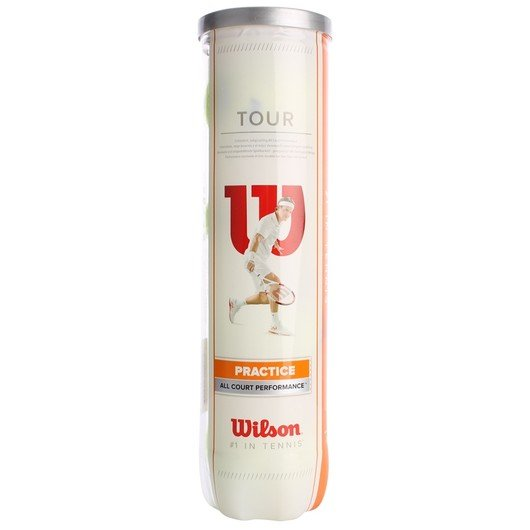 Wilson Tour Practice (4 Pair) Teni̇s Topu