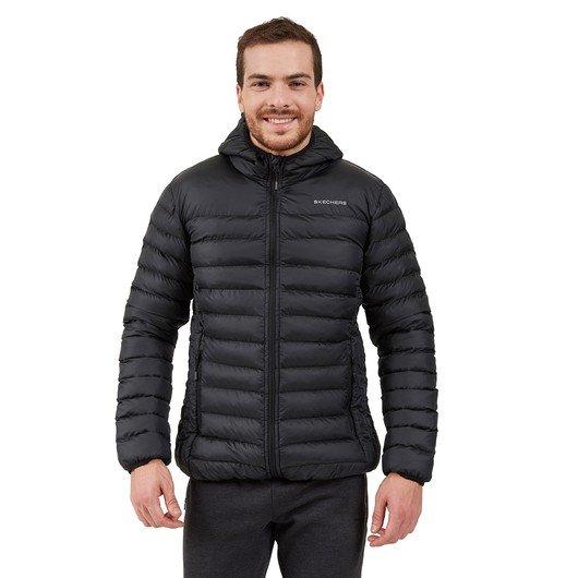 Skechers Outerwear Padded Lightweight Full-Zip Hoodie Erkek Ceket