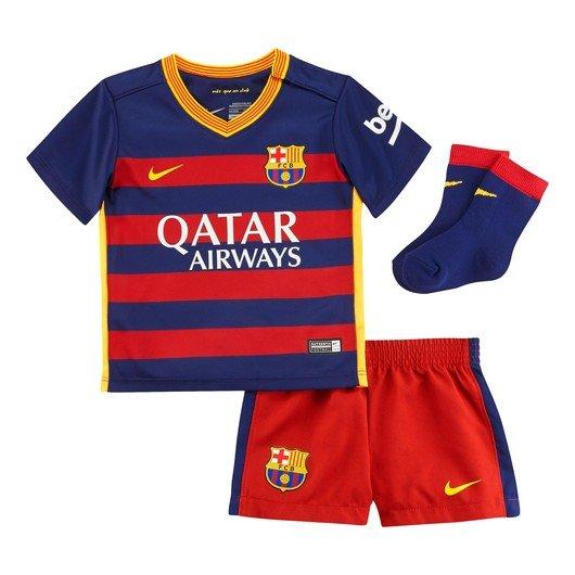 Nike Barcelona Fc Home Infants Çocuk Forma Takım