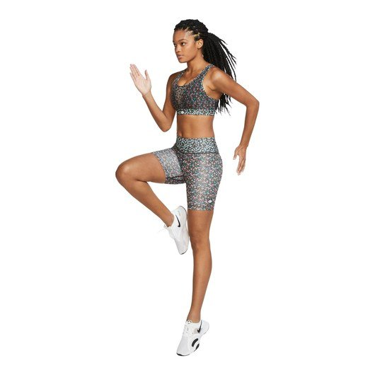 Nike Swoosh Printed Medium-Support Sports Kadın Büstiyer