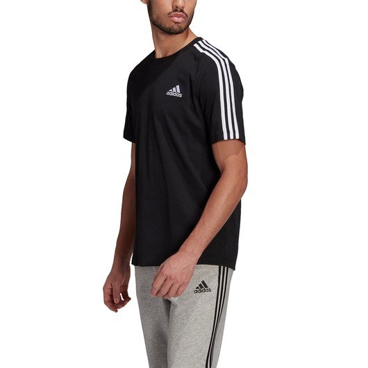 adidas Essentials 3-Stripes Short-Sleeve Erkek Tişört