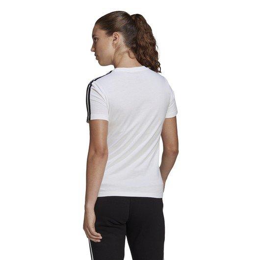 adidas LOUNGEWEAR Essentials Slim 3-Stripes Short-Sleeve Kadın Tişört