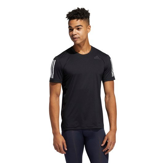 adidas Techfit 3-Stripes Fitted Short-Sleeve Erkek Tişört