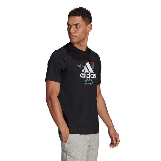 adidas Cartoon Logo Graphic Short-Sleeve Erkek Tişört