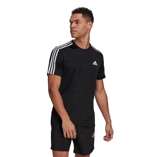 adidas AEROREADY Designed To Move Sport 3-Stripes Short-Sleeve Erkek Tişört