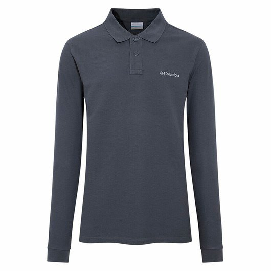 Columbia Cascade Range Solid Long-Sleeve Polo Erkek Tişört