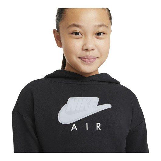 Nike Air Cropped French Terry Hoodie SS21 (Girls') Çocuk Sweatshirt