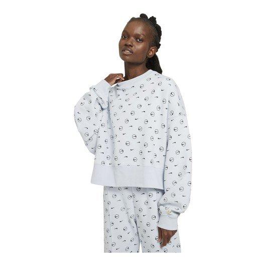 Nike Sportswear Fleece Printed Crew Kadın Sweatshirt