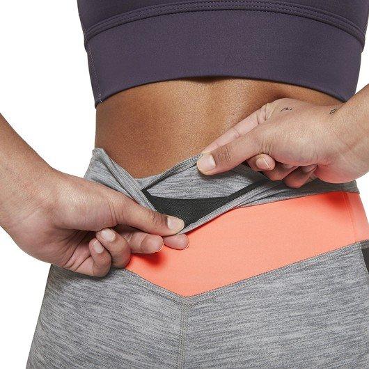 Nike One 7/8 Colour-Block Heathered Leggings Kadın Tayt